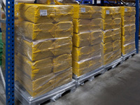 Poly-vacuum bags ready Paletten for dispatch